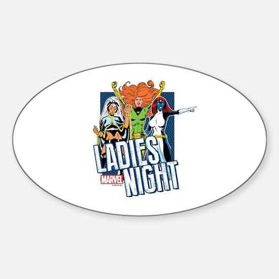 Marvel Ladies Night Sticker (Oval)