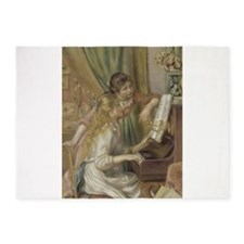 Girls at the Piano 5'x7'Area Rug