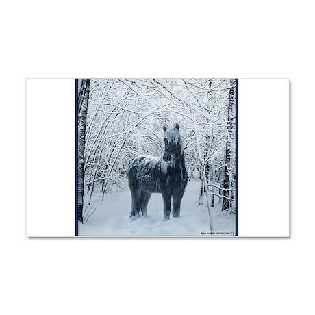 winter horse christmas Car Magnet 20 x 12