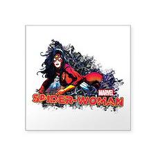 """Spider-Woman Square Sticker 3"""" x 3"""""""