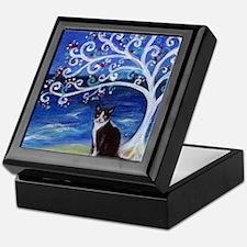 Tuxedo Cat Tree of Life Keepsake Box