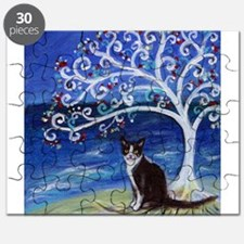 Tuxedo Cat Tree of Life Puzzle