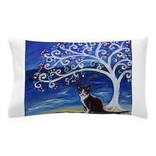 Tuxedo Cat Tree of Life Pillow Case