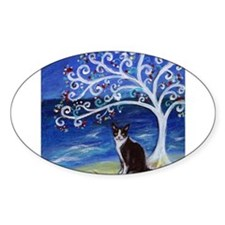 Tuxedo Cat Tree of Life Decal