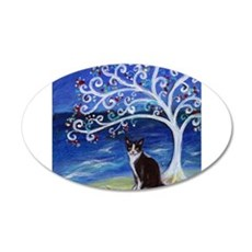 Tuxedo Cat Tree of Life Wall Decal