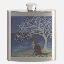 Tuxedo Cat Tree of Life Flask
