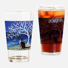 Tuxedo Cat Tree of Life Drinking Glass