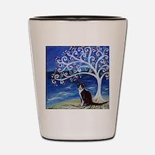 Tuxedo Cat Tree of Life Shot Glass