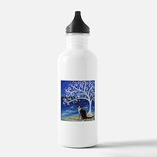 Tuxedo Cat Tree of Life Water Bottle