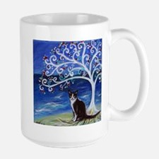 Tuxedo Cat Tree of Life Mugs