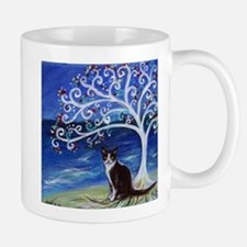 Tuxedo Cat Tree of Life Mugs