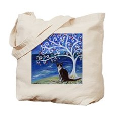 Tuxedo Cat Tree of Life Tote Bag