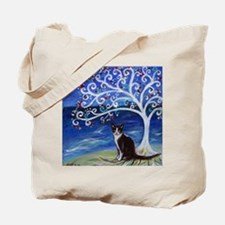 Tuxedo Cat Tree of Life Tote Bag