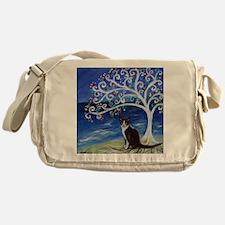 Tuxedo Cat Tree of Life Messenger Bag