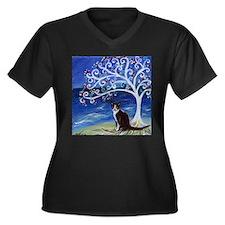 Tuxedo Cat Tree of Life Plus Size T-Shirt