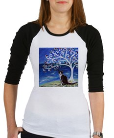 Tuxedo Cat Tree of Life Baseball Jersey