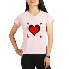 Cascading Hearts Monogram Performance Dry T-Shirt