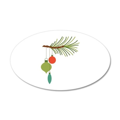 Christmas Tree Ornaments Wall Decal