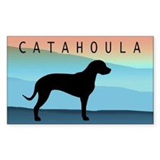 Catahoula Blue Mt. Rectangle Decal