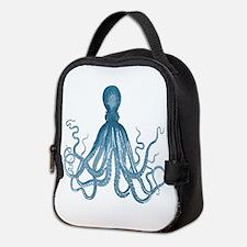Blue Octopus Neoprene Lunch Bag