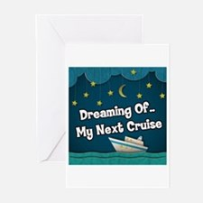 Dreaming Of My Next Crui Greeting Cards (Pk of 20)