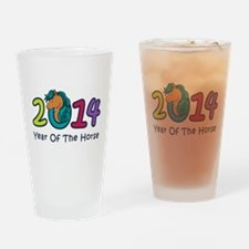 Year Of The Cute Horse 2014 Drinking Glass