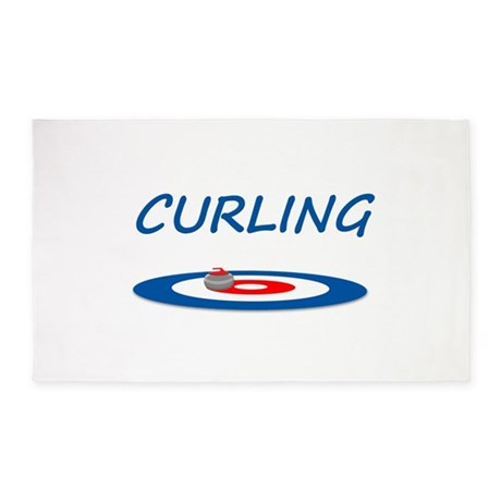 Curling 3'x5' Area Rug