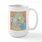 Art Nouveau Lady Large Mug
