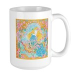 Art Nouveau Lady Large Mug