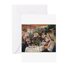 Luncheon of the Boating Party Greeting Cards