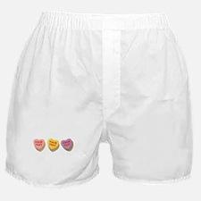 3 Candy Hearts CUSTOM TEXT Boxer Shorts