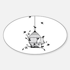 Free birds with open birdcage Decal