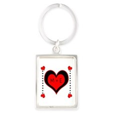 Cascading Hearts Monogram Keychains