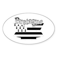 Bretagne Brittany flag Oval Decal
