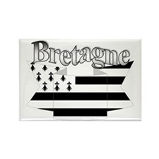 Bretagne Brittany flag Rectangle Magnet