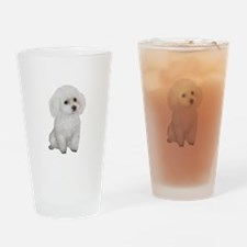 Poodle (MinW2) Drinking Glass