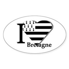 I love Bretagne Oval Decal