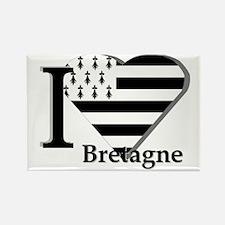 I love Bretagne Rectangle Magnet