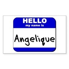 hello my name is angelique Rectangle Decal