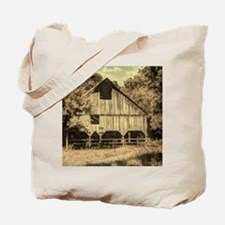vintage rustic country barn house Tote Bag