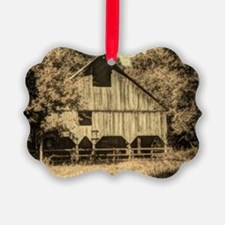 vintage rustic country barn house Ornament