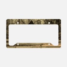 vintage rustic country barn h License Plate Holder