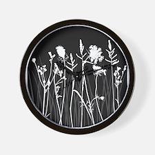 Elegant Grass Silhouette Wall Clock
