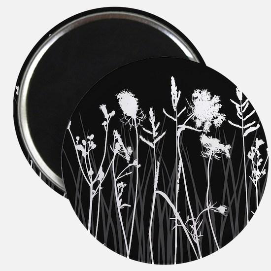 Elegant Grass Silhouette Magnet