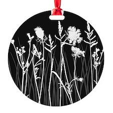 Elegant Grass Silhouette Ornament