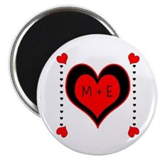 Cascading Hearts Monogram Magnets