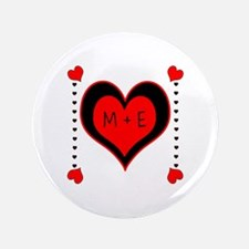 "Cascading Hearts Monogram 3.5"" Button (100 pack)"