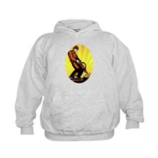 Construction Worker Jackhammer Oval Hoodie