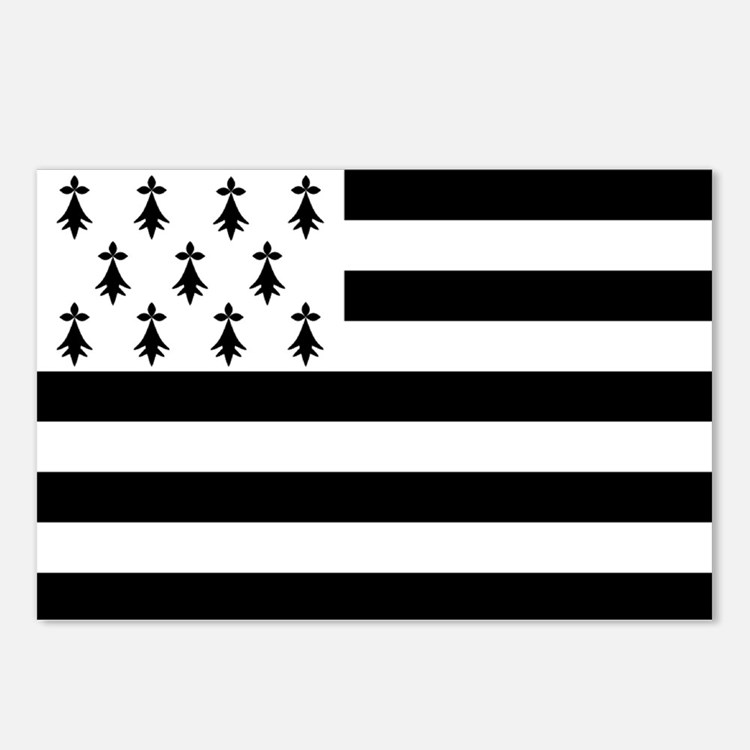 Brittany flag Postcards (Package of 8)