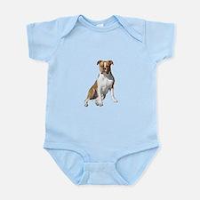 Am Bulldog 2 (Brn-W) Infant Bodysuit